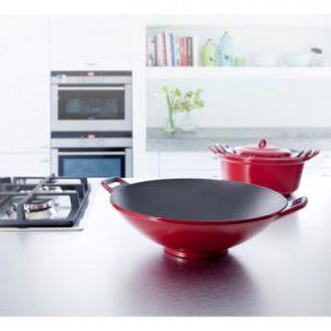 BK gietijzeren wokpan voor inductie
