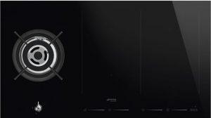 Smeg inductie kookplaat wokbrander gas optie