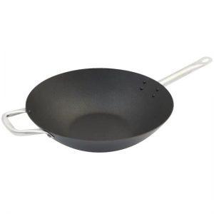 Stalen wokpan met anti aanbaklaag